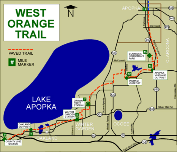 West Orange Trail - Trail Map